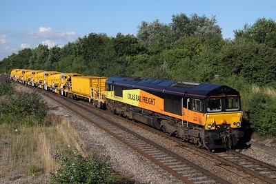 66847 works the 6Z66 Cardiff Canton to Taunton Fairwater at Filton on the 16th August 2013