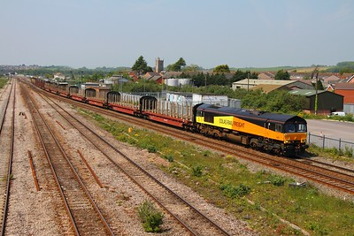 66850 Severn Tunnel junction 6Z50 Chirk to Teigngrace on the 23rd May 2012