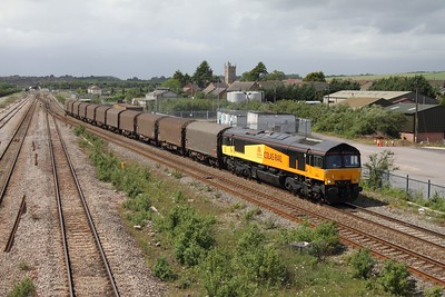 66842 on the 6Z78 Llanwern to Dollands Moor on the 9th May 2011