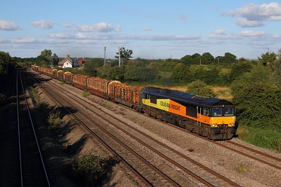 66846 on the 6M51 Exeter Riverside to Chirk at Undy on the 30th July 2015