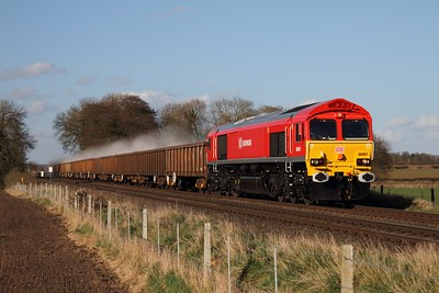 66001 leads the 6M88 Middleton Towers to Ellesmere Port at East Goscote on the 18th April 2013