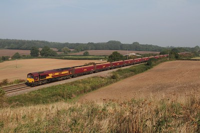66011 passes Damary, near  Charfield working 4V70 Ratcliffe P S  - Avonmouth on 09-09-2014