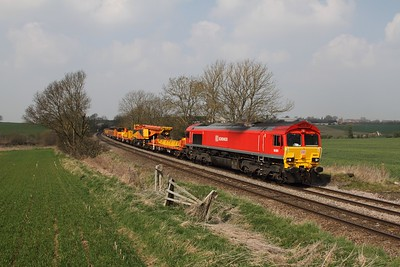 66001 on the 6D44 Bescot to Toton at Chellaston on the 9th April 2015