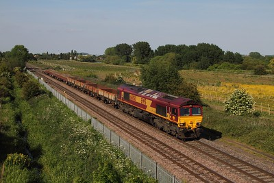 66050 on the 6G45 Toton to Bescot at Branston on the 11th June 2015