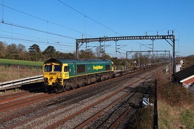 66503 on the 4M88 Felixstowe to Crewe Basford Hall at Bourne end on the 15th March 2017