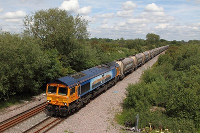 66709 passes Willington hauling the 6Z32 Tinsley to Coton Hill on the 15th June 2015