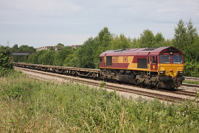 66005 Undy in possession with an eastbound engineers likely to Westbury on the 28th June 2009
