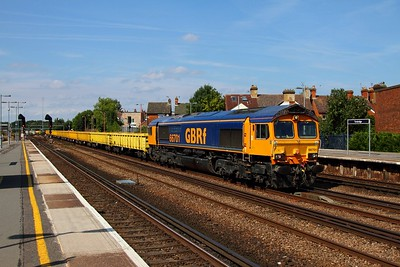 66701 Grain to Tonbridge yard arrives at Tonbridge on the 29th August 2013