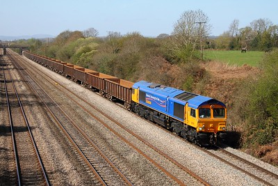66718 Llandevenny 6Z33 Tidal  to Hexthorpe on the 1st April 2012