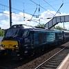 68004 working ECS Motherwell to Edinburgh at Slateford