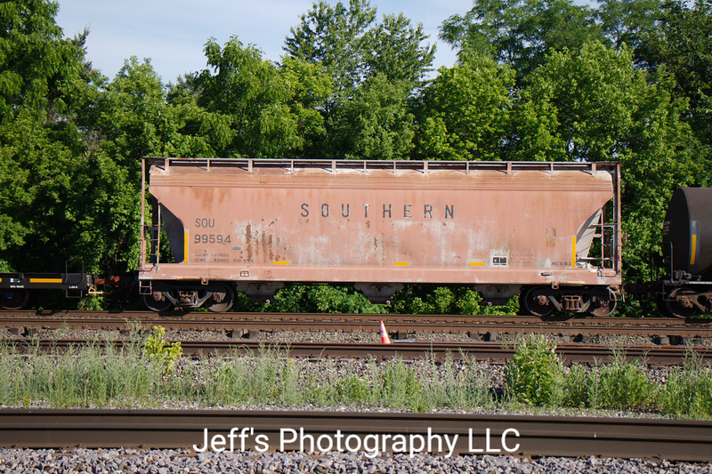 Norfolk Southern 3-Bay ACF 4049 cu. ft. Class HCS-63 Centerflow Covered Hopper No. 99594