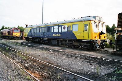 Dept DMU 977859 in Doncaster Carr Yard.