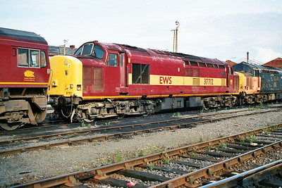 Withdrawn 37712 in Doncaster Carr Yard.