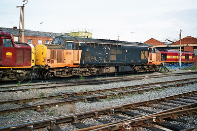 Withdrawn 37516 in Doncaster Carr Yard.