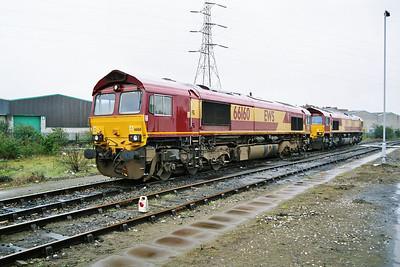 66160 and 66242 Saltley Depot