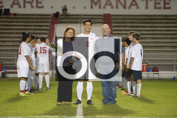 MHS vs Sarasota (Boys Varsity Soccer, SR Night)