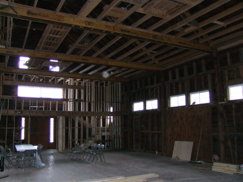 Little Theatre renovations May 2008
