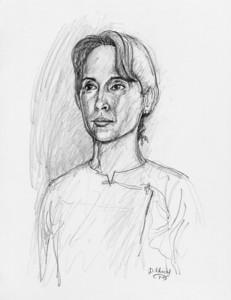 Daw Aung San Suu Kyi, Bamarpyay artist: dominic chiong july 2003