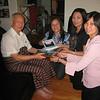 Saya U Khin Mg Win receiving the 2007 reunion book and gift<br /> Los Angeles, May 11, 2007<br /> photo credit: Aye Hnin Yee