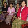 Nilar, Khin K Oo, Naing Naing Ag & Win Win Myint Yangon, Dec 25 2005<br /> photo credit: NM