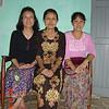 Nilar Myint, Naing Naing Aung, Khin Khin Oo, Yangon, Dec 2005<br /> photo credit: NM