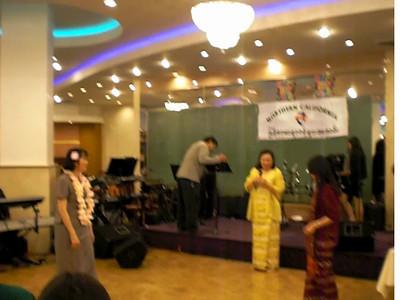 san san myint and khin san myint togther with mie mie chiong  @usbma new year party, san francisco 2013 video credit: san san myint