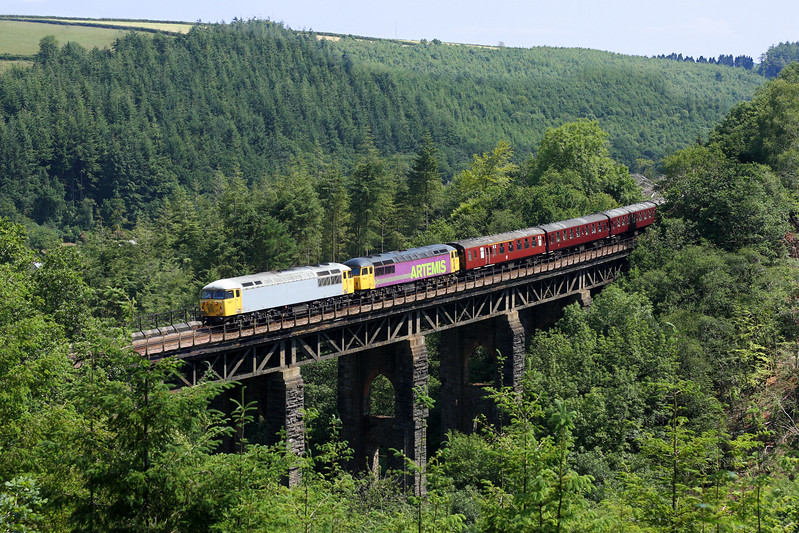 56311 & 56312 on East Largin Viaduct