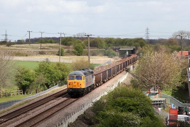 56312 at Ferrybridge Embankment
