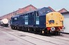 31 May 2003 :: In ex-works condition, DRS's 37038 is on display at the Crewe Works open day
