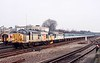 19 January 1992 :: 37009 + 33050 are at Basingstoke working a railtour to Weymouth
