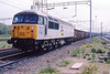 23 May 1991 :: 56002 with the Coal sub-sector decals  is photographed at Bescot