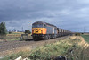"""12 September 1996 :: 56034 """"Castell Ogwr / Ogmore Castle"""" now in LoadHaul livery is seen with an MGR coal train at Knottingley"""