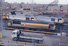 6 February 1997 :: 56036 has now had Transrail logo added to its 'Dutch' livery.  The photograph was taken at Knottingley Depot