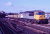 """23 February 1988 :: 56037 """"Richard Trevithick"""" is seen passing Salisbury in the original Railfreight livery"""