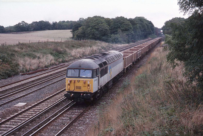 14 September 1989 :: 56050 is at Potbridge with (I assume?) an empty stone train from Woking