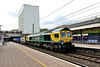 8 July 2015 :: 66414 has now been re-painted by Freightliner into their Powerhaul livery and is seen at Ealing Broadway with 4L31 from Bristol to Felixstowe