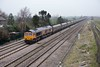"18 March 2015 :: Now re-painted, 66706 ""Nene Valley"" passes Colton Junction with 6B64 from Tyne Dock to West Burton Power Station"