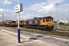 """11 August 2004 :: 66704 """"Colchester Power Signal Box"""" is stabled between duties at Didcot"""