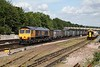 """10 May 2011 :: 66706 """"Nene Valley"""" in the original GBRf livery is passing Basingstoke with the Mountfield to Southampton gypsum train"""