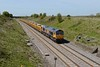 """4 May 2016 :: Europorte 66710 """"Phil Packer"""" in the gentle cutting at Bourton  leading 6M40 from Westbury to Stud Farm"""