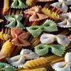 Kitchen Art - pasta decor <br /> At Club Med they decorated the space in between the displayed food with pasta. I tried to duplicate what they did but I ended up with something very different.