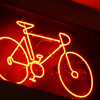 Heading back from downtown Palm Springs, found this bike neon over bike store.