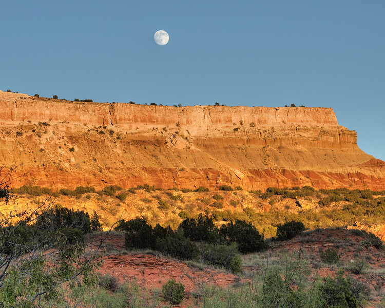 Moon over Palo Duro Canyon