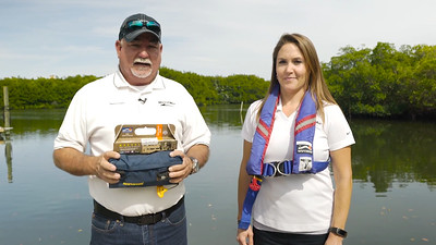 Captain Keith and Lisa go over different types of personal flotation devices
