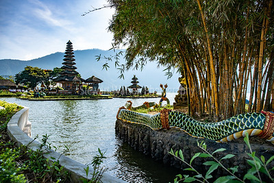 Ulan Danu Beratan Temple.  Pura Ulun Danu Beratan, or Pura Bratan, is a major Shaivite water temple on Bali, Indonesia.