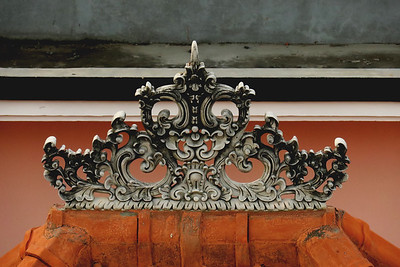 Traditional Balinese roof carving