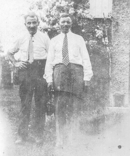 Oratio Bontempi (left) and his friend Mr. Santucci circa 1920's