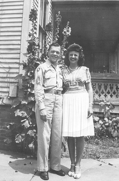 August 1945: Bernie Begin & Lena Bontempi. Northampton MA