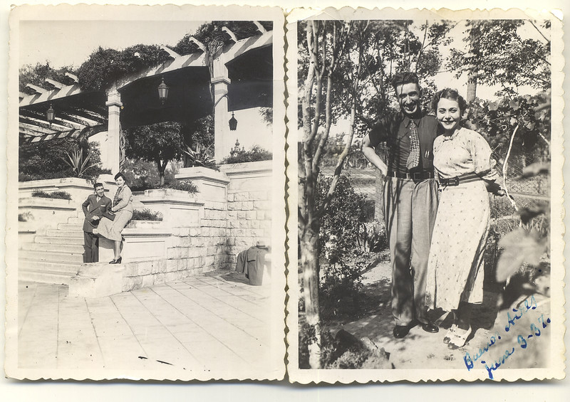 1937: Two photographs of Mr. Sabatini and his wife Florinda. The photos were sent to the Bontempi's from Buenos Aires, Argentina
