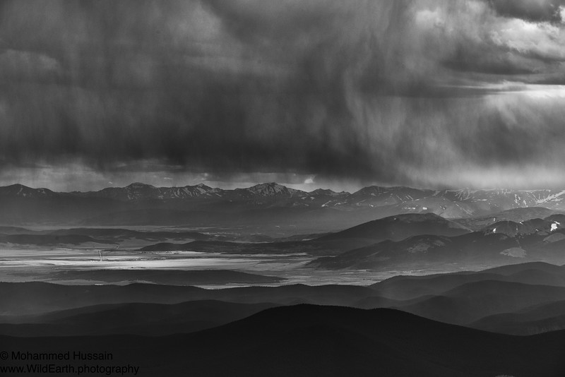 Colorado Summer Storm - View from Mt. Evans